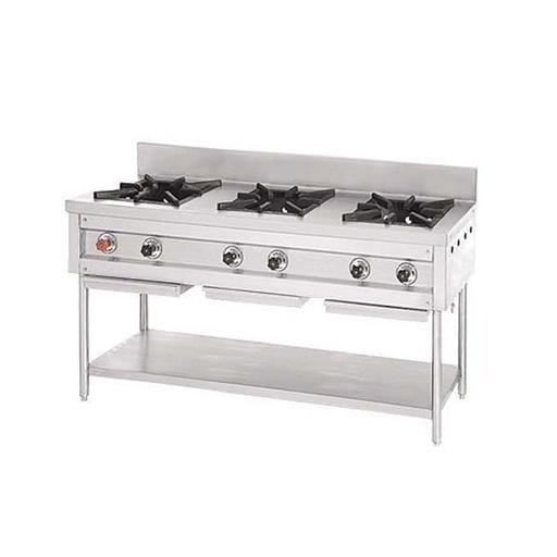 Stainless Steel Commercial Three Burner Range