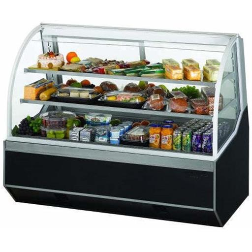 Stainless Steel And Glass Refrigerator Display Case