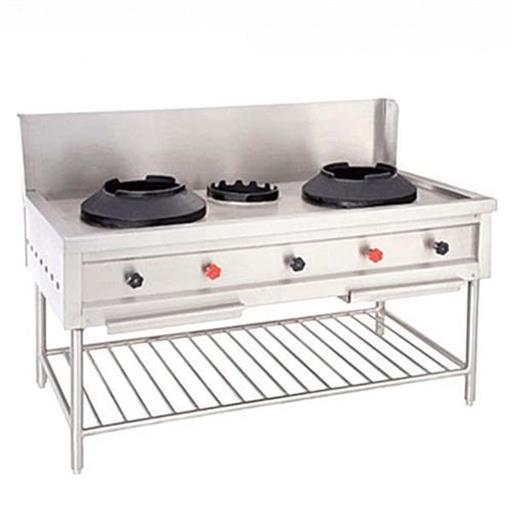3 Stainless Steel Chinese Commercial Gas Cooking Burner Range