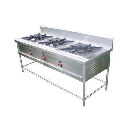 Stainless Steel Indian Commercial Gas Cooking 3 Burner Range