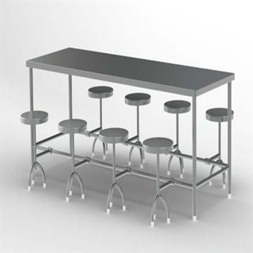 SS Rectangular Dining Table