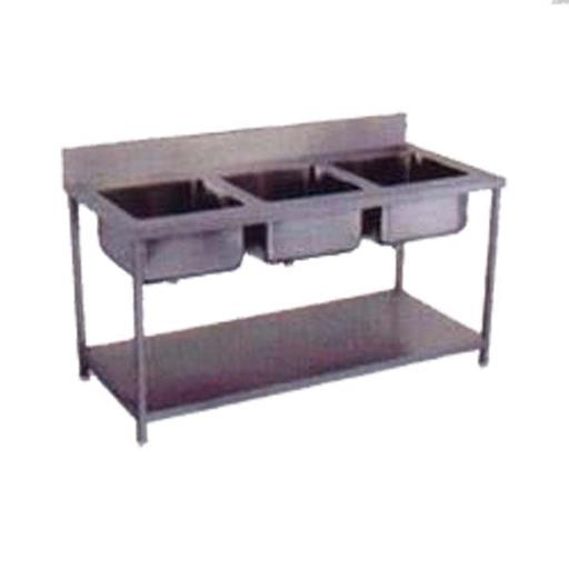 Three Bowl Stainless Steel Sink