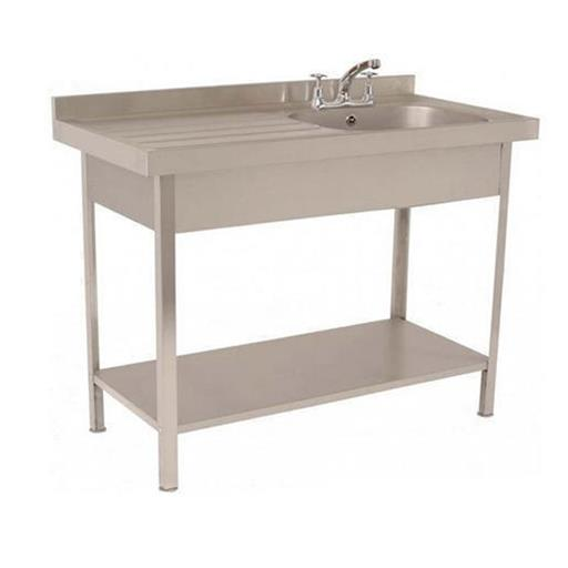 Grey Single Sink Unit With Working Table