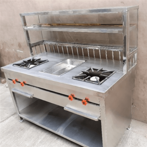 Cooking Range with Front glass & Oil Dumper