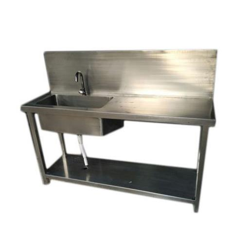 SS Table With Sink