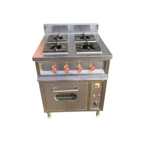 4 Burner Commercial Cooking Range With Oven
