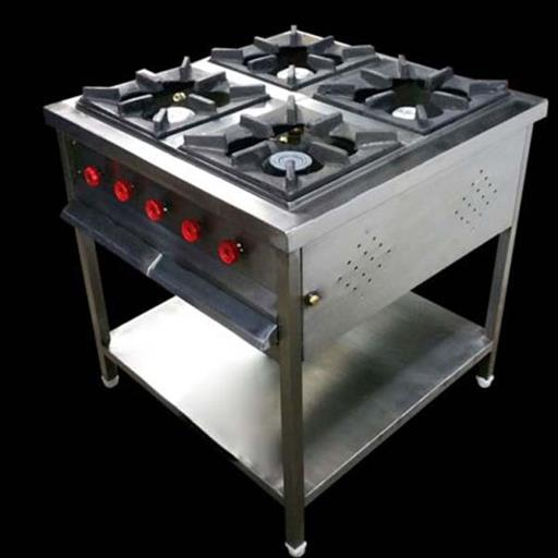 SS Four Burner Cooking Range