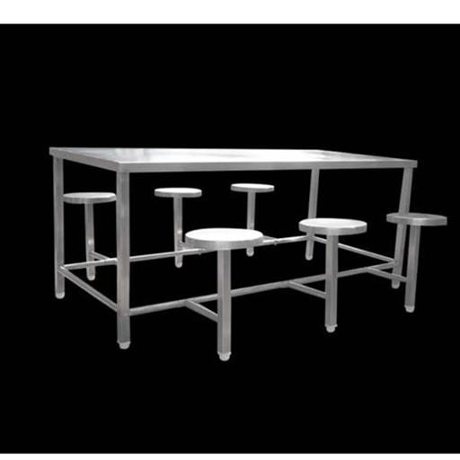 SKCE Stainless Steel SS 6 Seater Dining Table