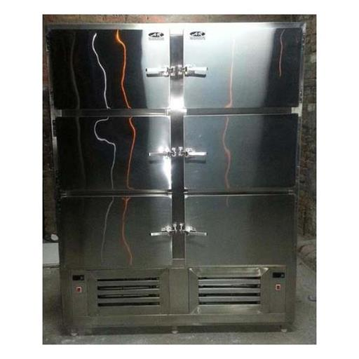 Commercial Vertical 6 Door SS Freezer