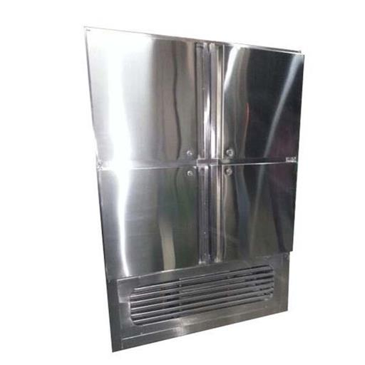 Commercial Vertical 4 Door SS Freezer