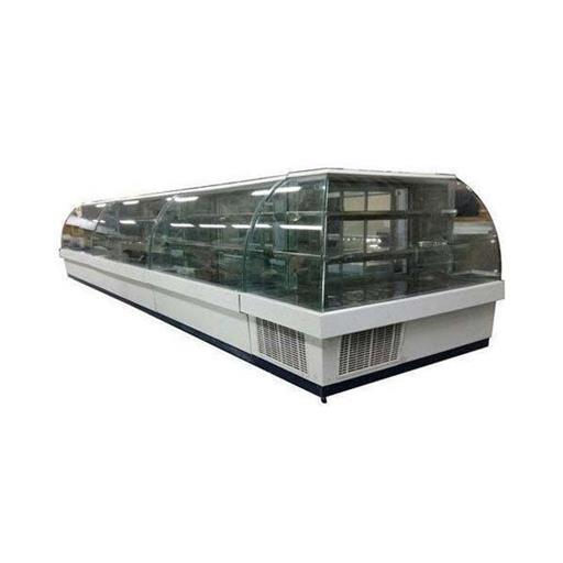 Curved SS And Glass Display Counter