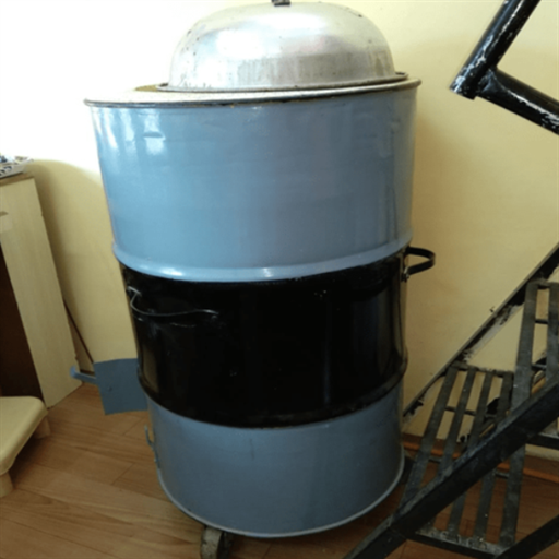 MS Drum Tandoor with Wheel & Operating Gas System