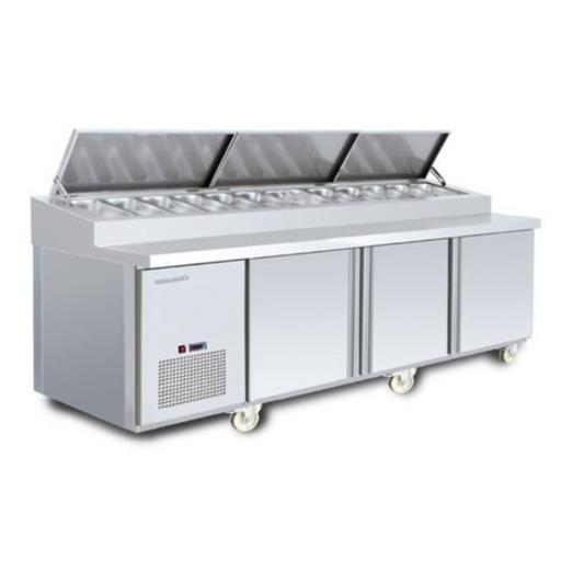 Stainless Steel Pizza Topping Counter