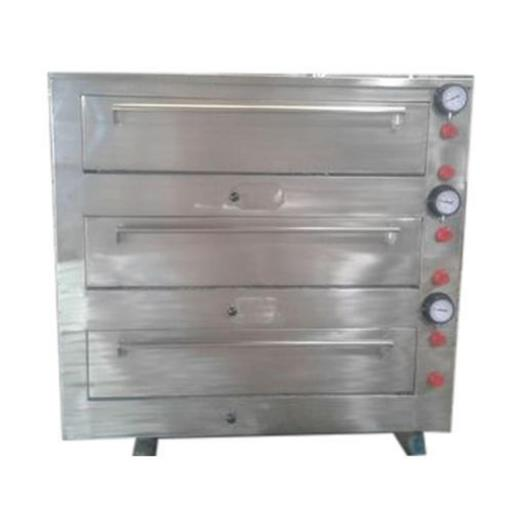 Three Deck Gas Pizza Oven