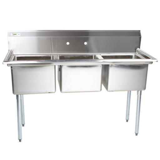 Triple Compartment Stainless Steel Sink