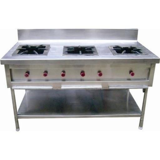 M-Cool Ss 3 Burner Gas Range, For Commercial