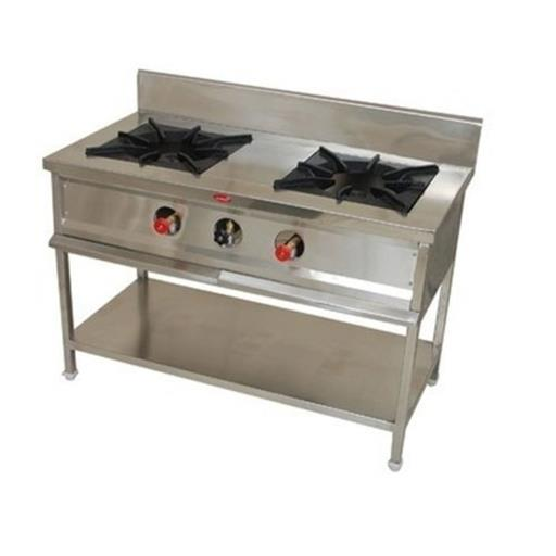 M-Cool Ss 2 Burner Gas Range, For Commercial