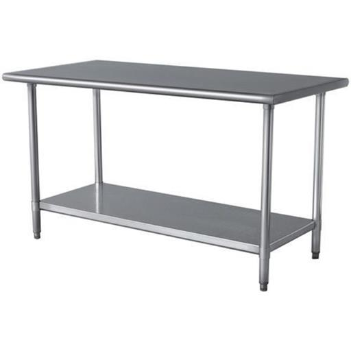 "M-Cool Stainless Steel Work Table, Size: 48""x24""x34"""