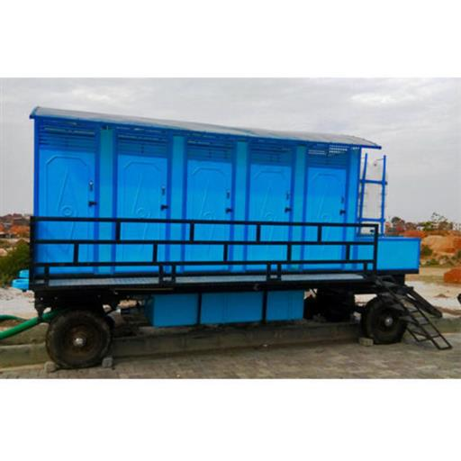 10- SEATER MOBILE TOILET TROLLEY