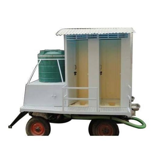 2 seater portable mobile toilet