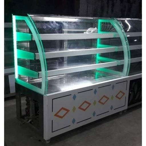 4 Shelves Stainless Steel Food Display Counter