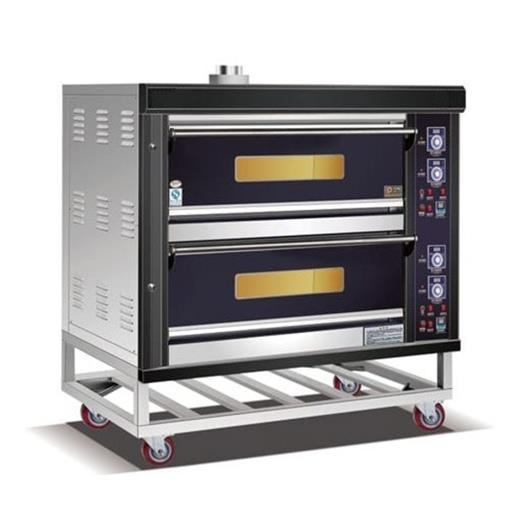 Automatic 2 Deck 4 Tray Gas Oven
