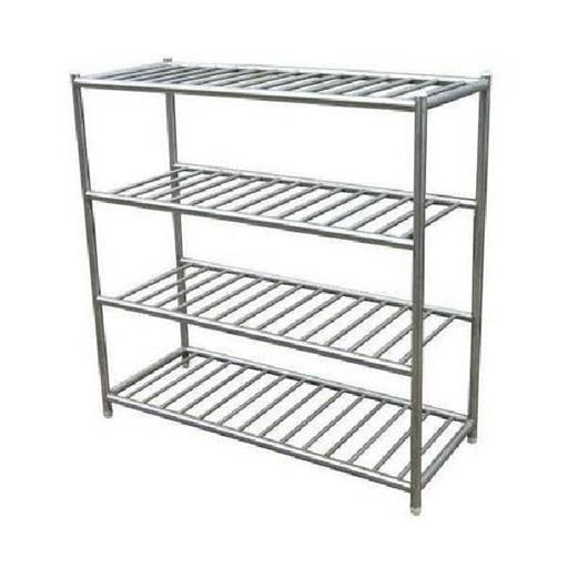 "Stainless Steel SS Pot Rack, Size: 36""x24""x66"""