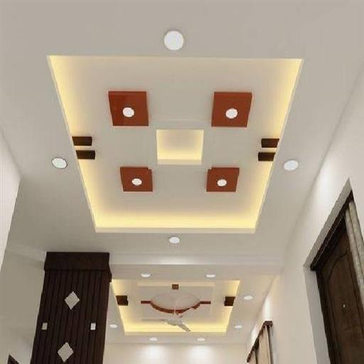 POP White false ceiling, 12*15