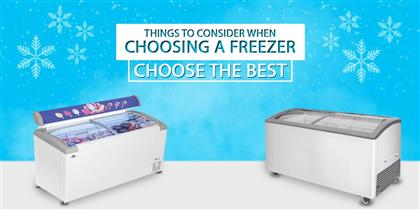 Things to Consider When Choosing a Freezer – Choose the Best