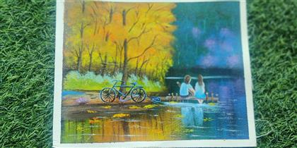 canvas painting (Love in air)