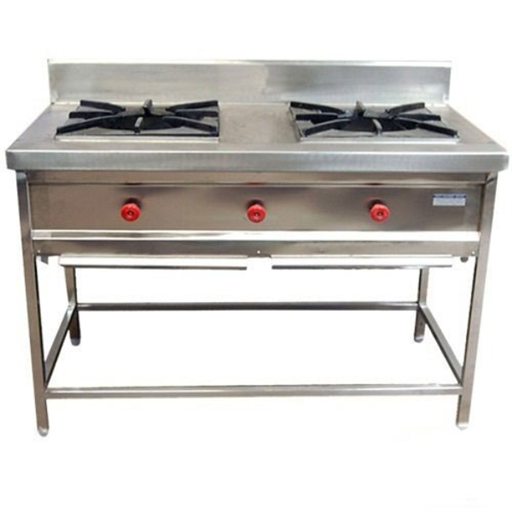 Stainless Steel LPG 2 Burner Gas Range, For Commercial