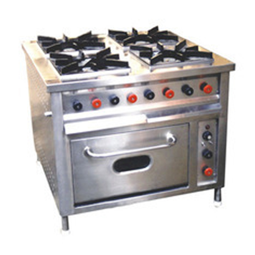 4 Burner Range With Gas Oven