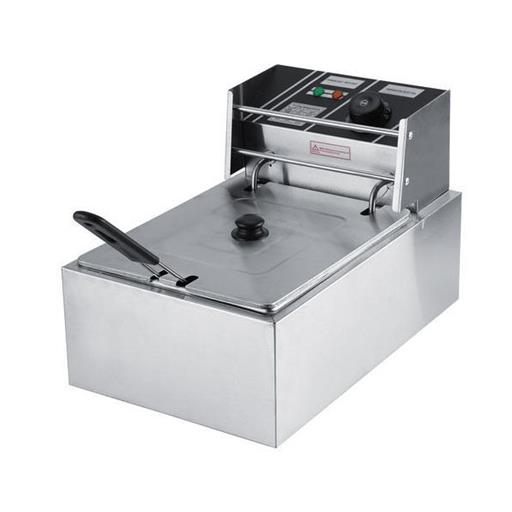 Commercial Electric Counter Top Stainless Steel Deep Fryer, 2300 Watts, Capacity: 8 L