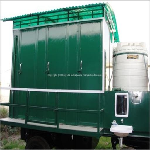 EIGHT SEATER MOBILE TOILET TROLLEY