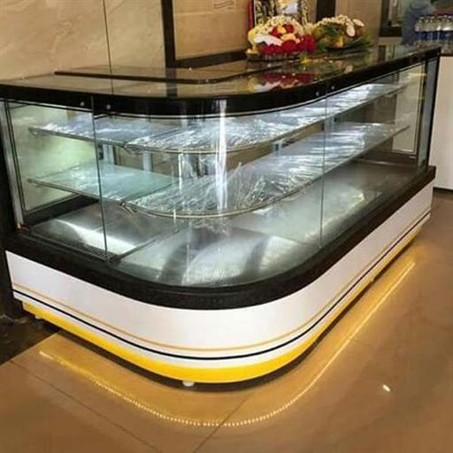 Glass 3 Shelves Reception Display Counter, Warranty: 1 Year, 100 W