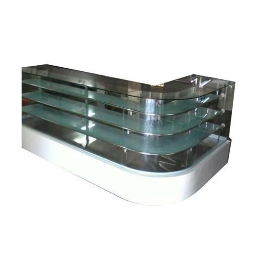 Glass L Shape Display Counter, 110 W, Warranty: 1 Year