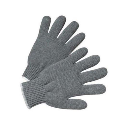 Gray Plain Grey Cotton Knitted Hand Gloves