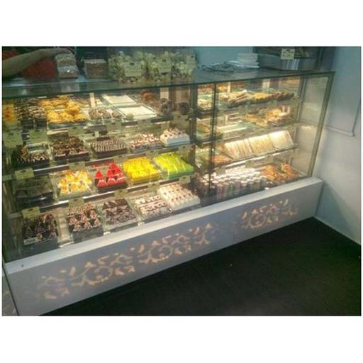 Grey Glass Sweets Display Counter, for Restaurant