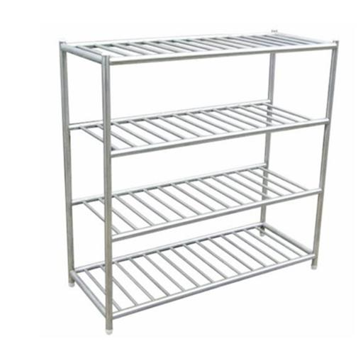 Free Standing Stainless Steel Pot Storage Rack, For Commercial Kitchen