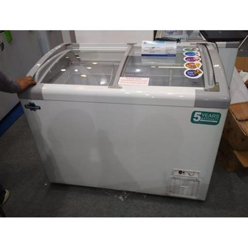 Inclined Curved Glass Eutectic Freezer with LED 250 liters GFR 250 ICGT ET