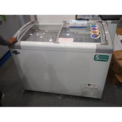 Inclined Curved Glass Top Freezer with LED 550 liters GFR 550 ICGT