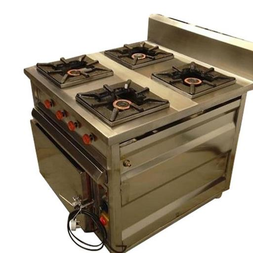 LPG Commercial Four Burner Cooking Range
