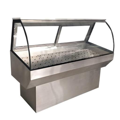6ft fish counter with puff installation