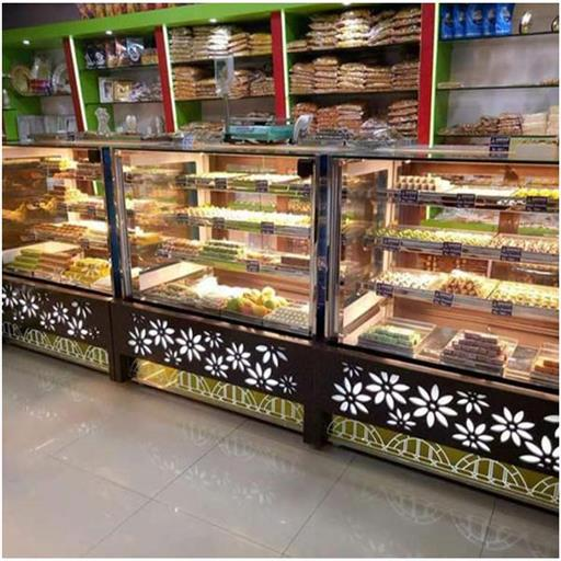 Rectangular Stainless Steel SS Sweets Display Counter