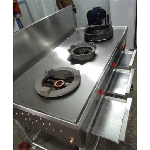 SS Commercial Three Burner Chinese Range