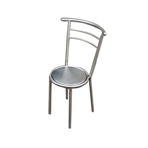 Silver Color SS Chair For Cafe
