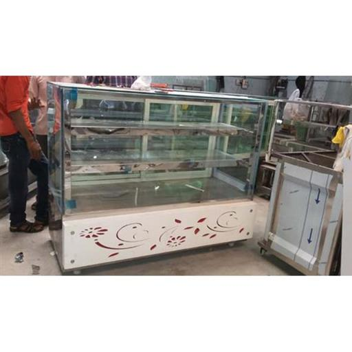 Stainless Steel 5 To 6 Feet Sweet Shop Display Counter