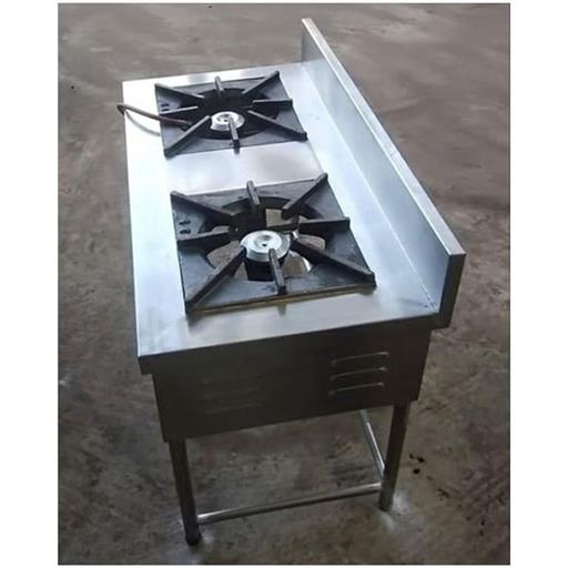Stainless Steel Commercial Two Burner Cooking Range
