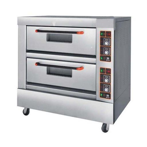 Stainless Steel Double Deck Oven, Capacity: 12 Pizza At A Time