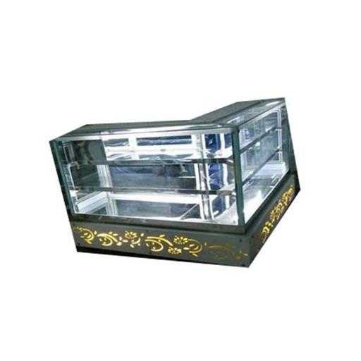 Stainless Steel L Shape Cold Display Counter, 110 W